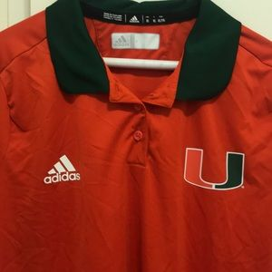 adidas Shirts - Miami Hurricanes polo